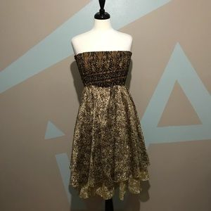 BOHEMIAN Strapless Reversible Brown Dress OSFM